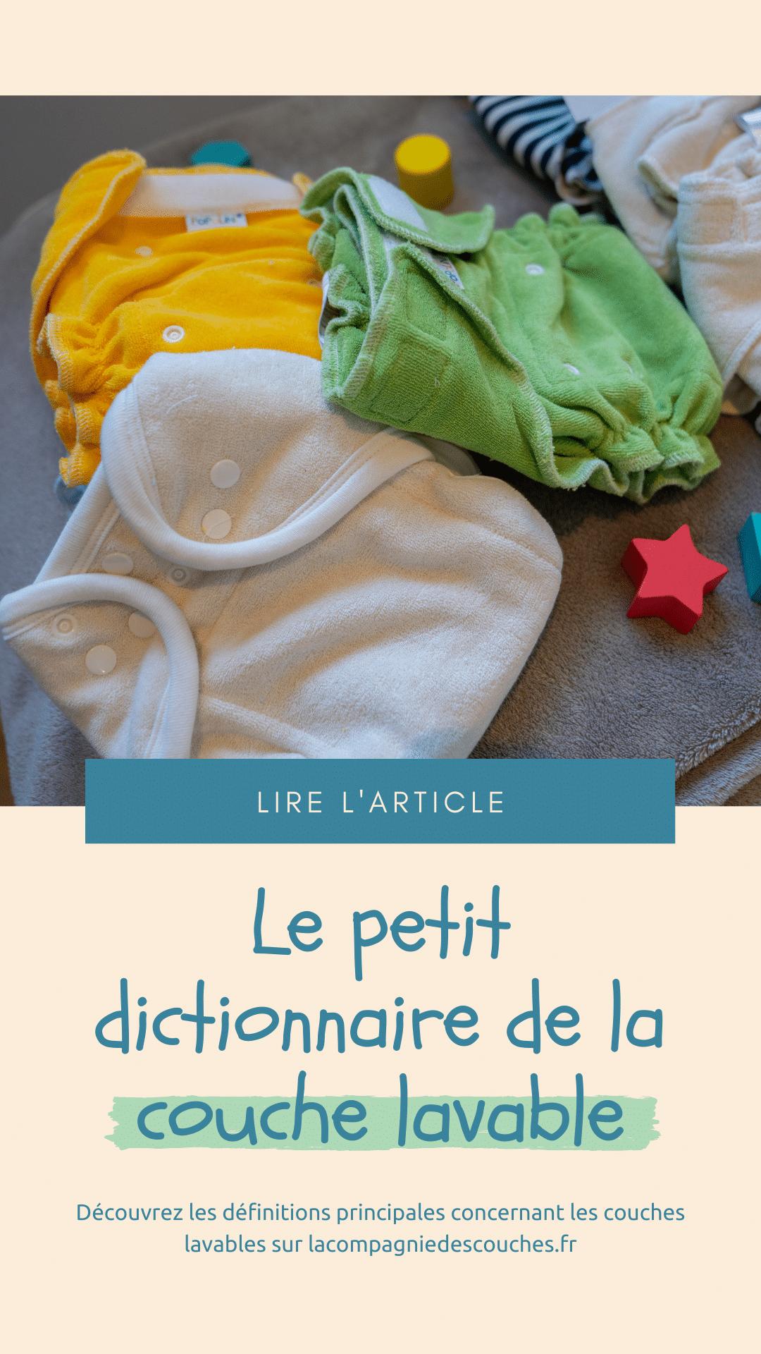 Le petit dictionnaire de la couche lavable